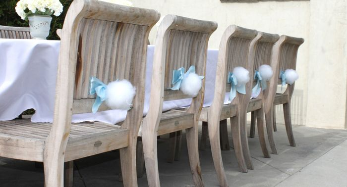 Bunny tail chairs!