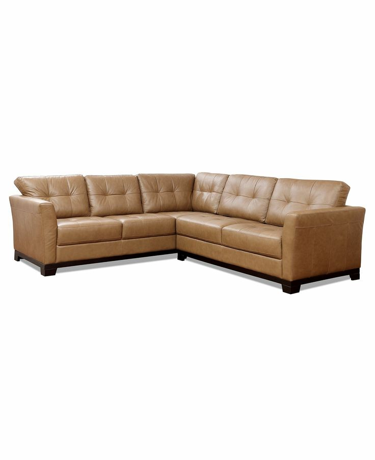 martino leather sectional | LR