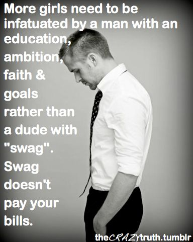 no swag necessary.  Listen up single gals