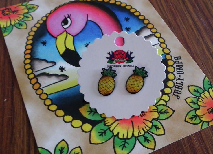Jubly Umph Pineapple Earrings