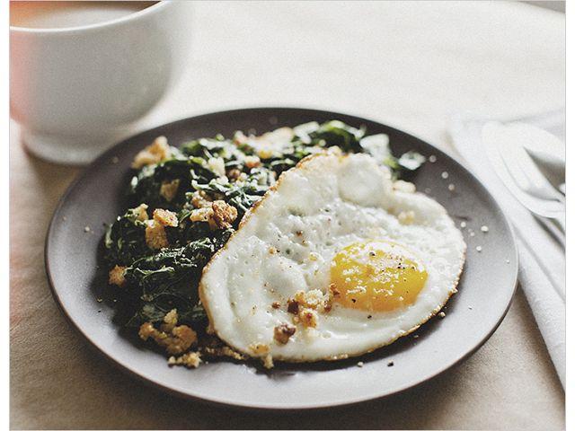 Sunny Eggs and Mustard-Creamed Chard | Vegetarian Recipes | Pinterest