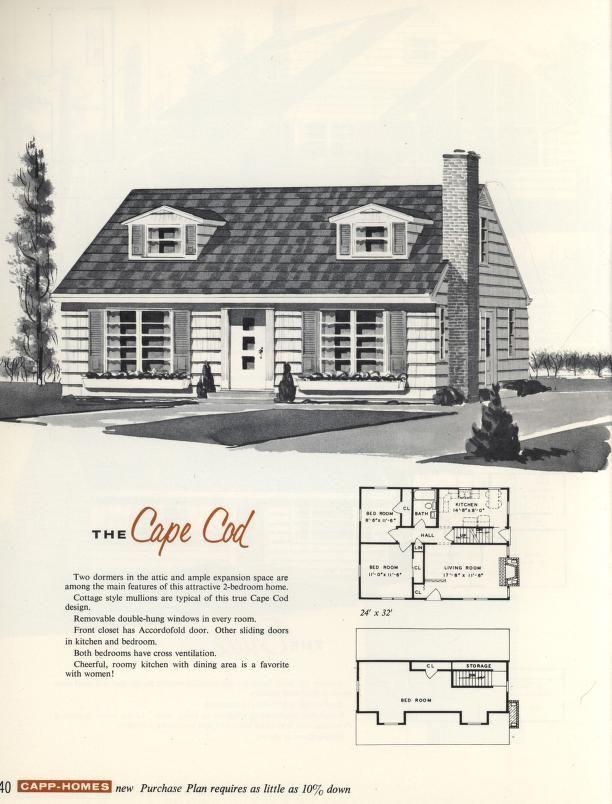 The cape cod 1960 capp homes vintage architecture for Cool house plans com