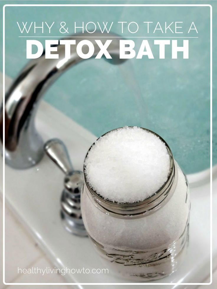 A detox bath is one of the easiest healing therapies we can do to facilitate our body's natural detoxification system.