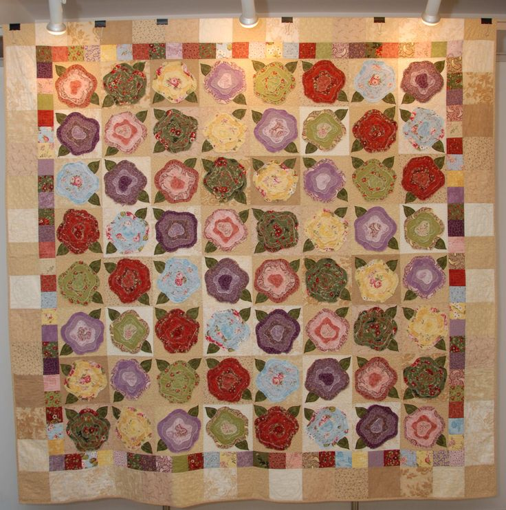 French Roses Flower Quilts Pinterest