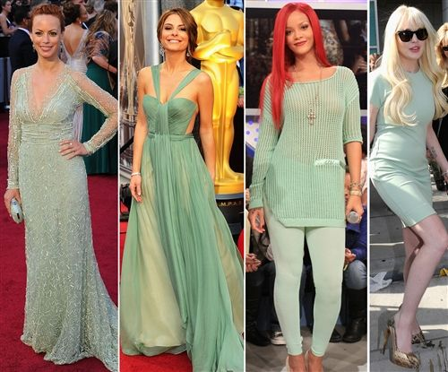 Cool minty green is so hot right now. Get the look for under $100