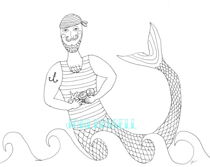 Merman Coloring Pages Clipart Best Sketch Coloring Page Merman Coloring Pages