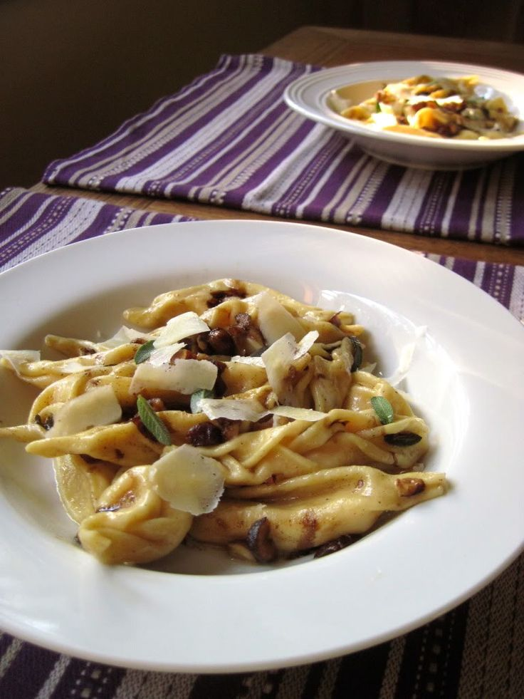 Squash and Ricotta Tortelli Piacentini with Browned Butter, Hazelnuts ...