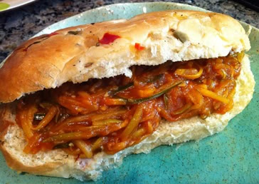 Bourbon Mango Pulled Summer Squash Sandwiches | Recipe