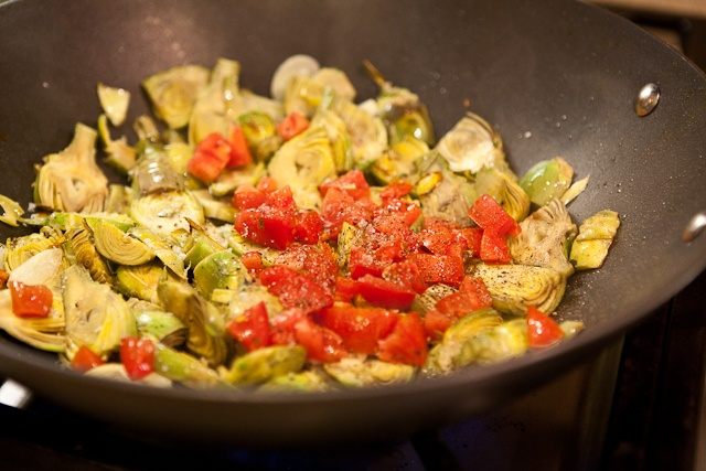 Baby Artichokes with Garlic and Tomatoes | Recipe