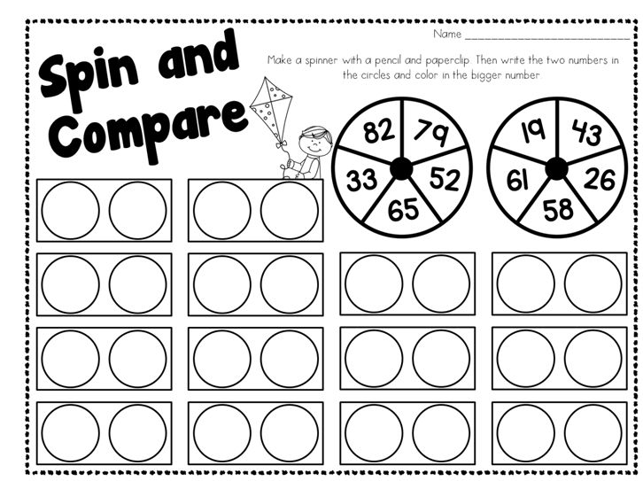 Number Names Worksheets more and less worksheets for – Greater Than Less Than Fractions Worksheets