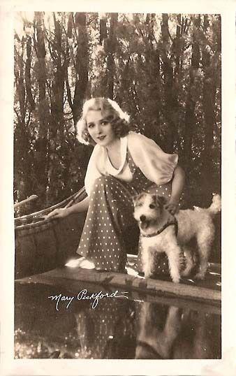Mary Pickford wearing polka dots   1930s