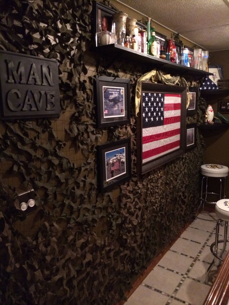 Camo Netting Behind The Bar Household And Gardening