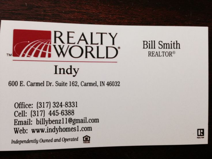 All my contact information bill smith realtor pinterest