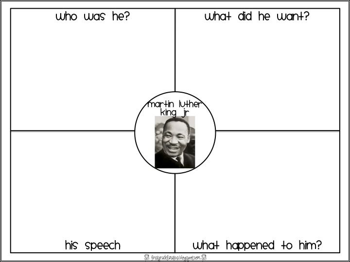 Martin Luther King Jr Worksheets Freebie: 4 great worksheets