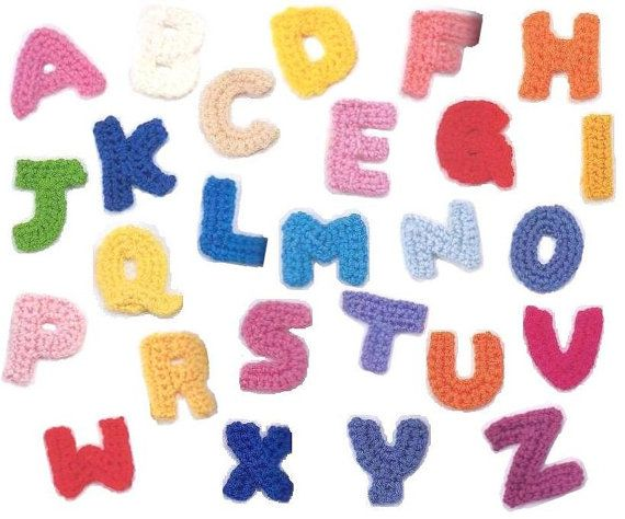 Crochet Patterns Letters : PDF pattern Crochet alphabet, 26 letters to make any words for decora ...