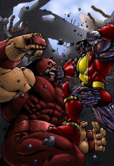 juggernaut vs colossus xmen pinterest