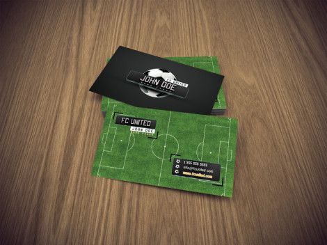Business card for football coach
