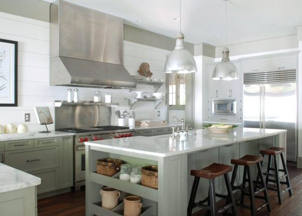 island yes, I love it all perfect Gray Green Kitchen Island Cabinets