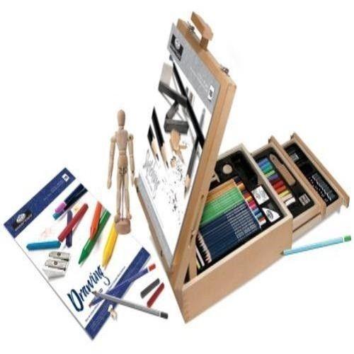 art kit 124 pic professional easel young artist pencil case sketch dr. Black Bedroom Furniture Sets. Home Design Ideas