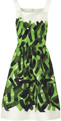 Oscar de la Renta Brushstroke-print tank dress