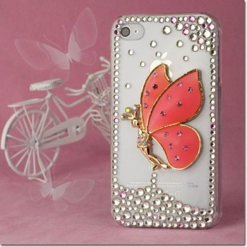 Have Apple iPhone 4 #iPhone #4S Hard Cover #Case - 3D Pink Fairy With Full #Rhinestones at a huge discount price!Click now to get more 15%OFF from #Acetag