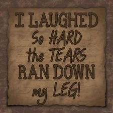 I LAUGHED SO HARD TEARS RAN DOWN MY LEG FUNNY Sign Primitive Rustic Home Decor