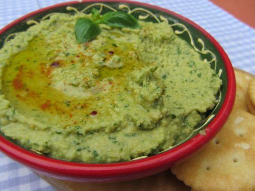 Basil Hummus | DIPS TO DIE FOR | Pinterest