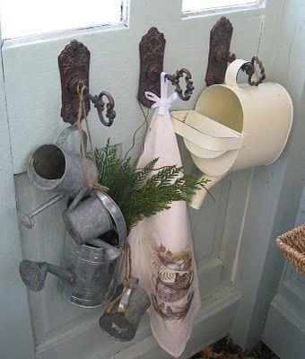 keys & door plates used as hooks