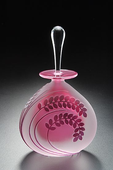 """""""Fern""""  Art Glass Perfume Bottle  Created by Mary Angus"""