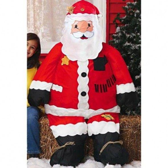 Inflatable Sitting Santa For awesomeBackyard Christmas Decor