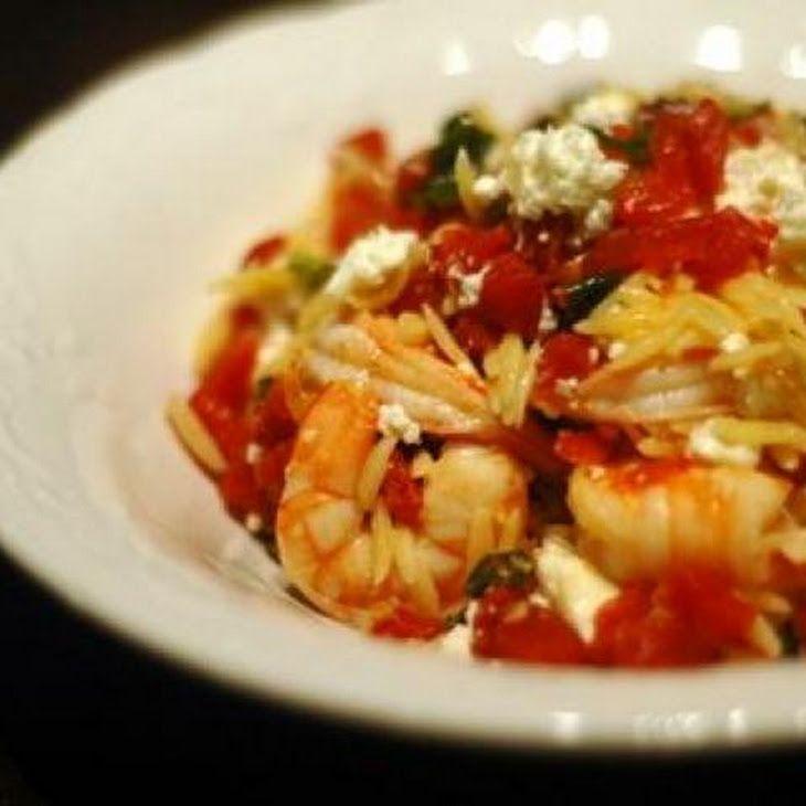 Orzo with Shrimp, Feta Cheese, and White Wine Recipe