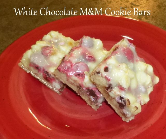 White Chocolate M&M Cookie Bars | cookies cakes & all yummy things ...