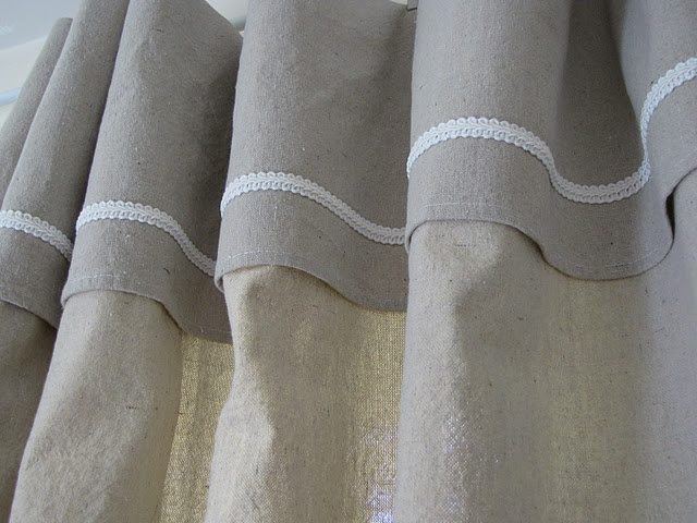 White Chenille Shower Curtain