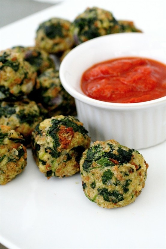 Spinach Parmesan Balls (this is what I mentioned for the appetizer ...