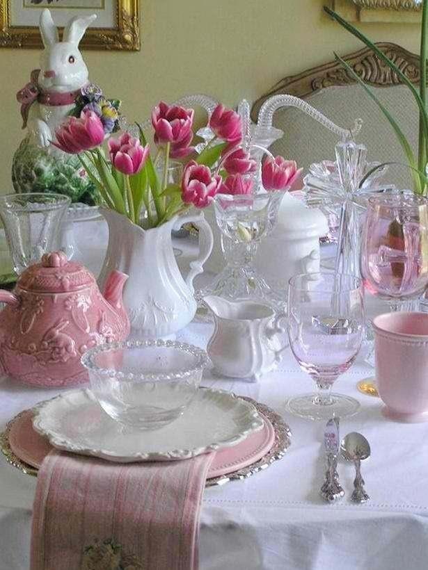 Table Setting Easter Ideas Pinterest
