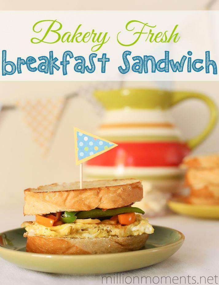 Bakery Fresh Breakfast Sandwich | Breakfast is for anytime !! | Pinte ...