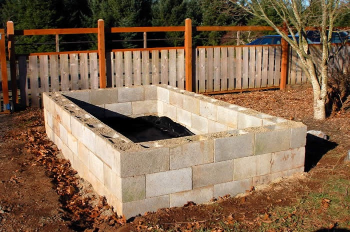 Concrete Block Raised Bed Concrete Block Gardens