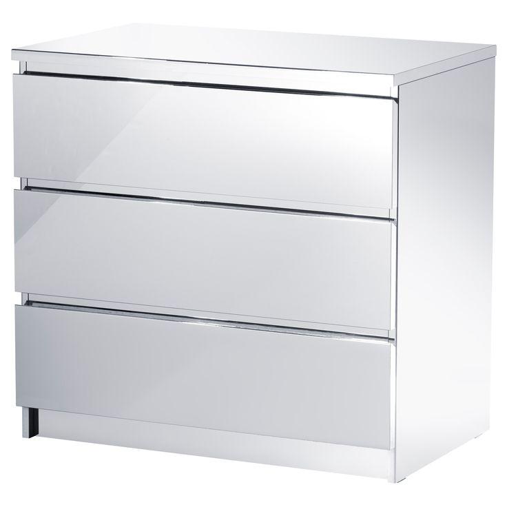 malm 3 drawer chest ikea home bedrooms pinterest. Black Bedroom Furniture Sets. Home Design Ideas