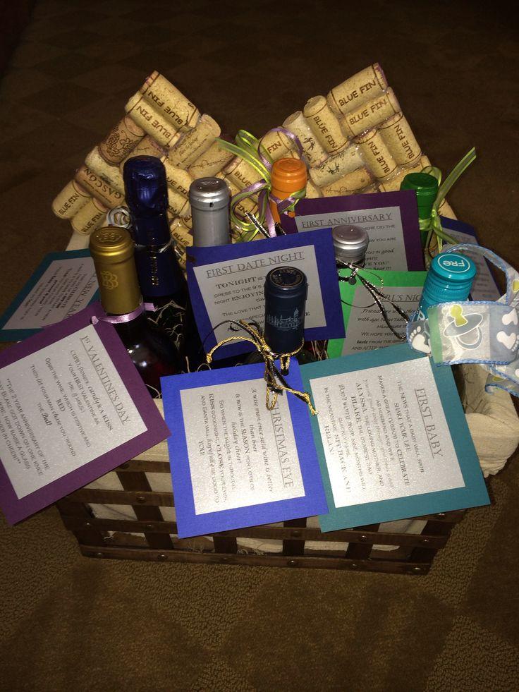 Wedding Gift Ideas Pinterest : Wine Wedding Gift basket gift ideas Pinterest