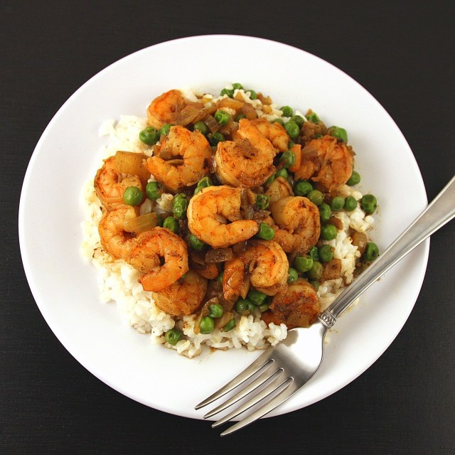 Coconut Curried Shrimp With Coconut Rice Recipe — Dishmaps
