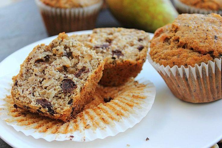 Pear Chocolate Hazelnut Muffins | Healthier Bread & Muffin Recipes ...