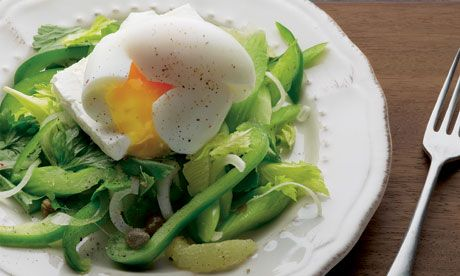 Yotam Ottolenghi's celery salad with feta and soft-boiled egg