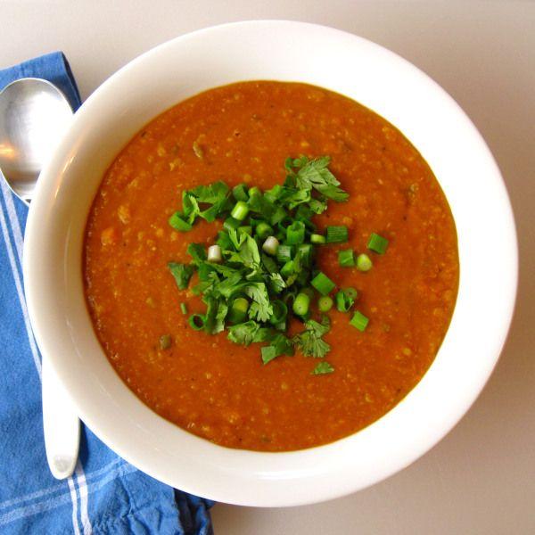Coconut Red Lentil Soup | Soup | Pinterest