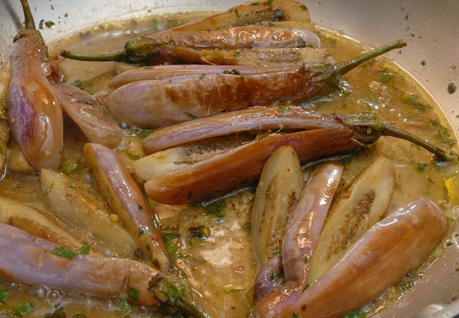 Sweet and Sour Baby Eggplant | Rufus' Food And Spirits Guide Recipes ...