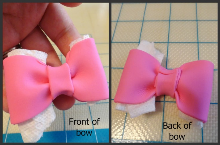 how to make fondant bows for cakes