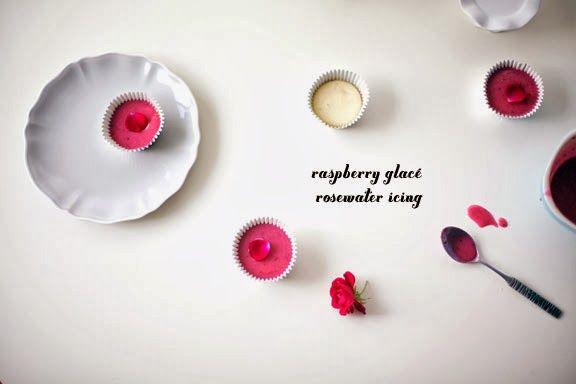 Coco Cake Land : Raspberry Glacé Rosewater Cupcake Icing
