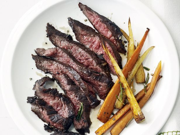 Skirt Steak with Roasted Root Vegetables #MyPlate #Protein #Veggies #GrillingCentral