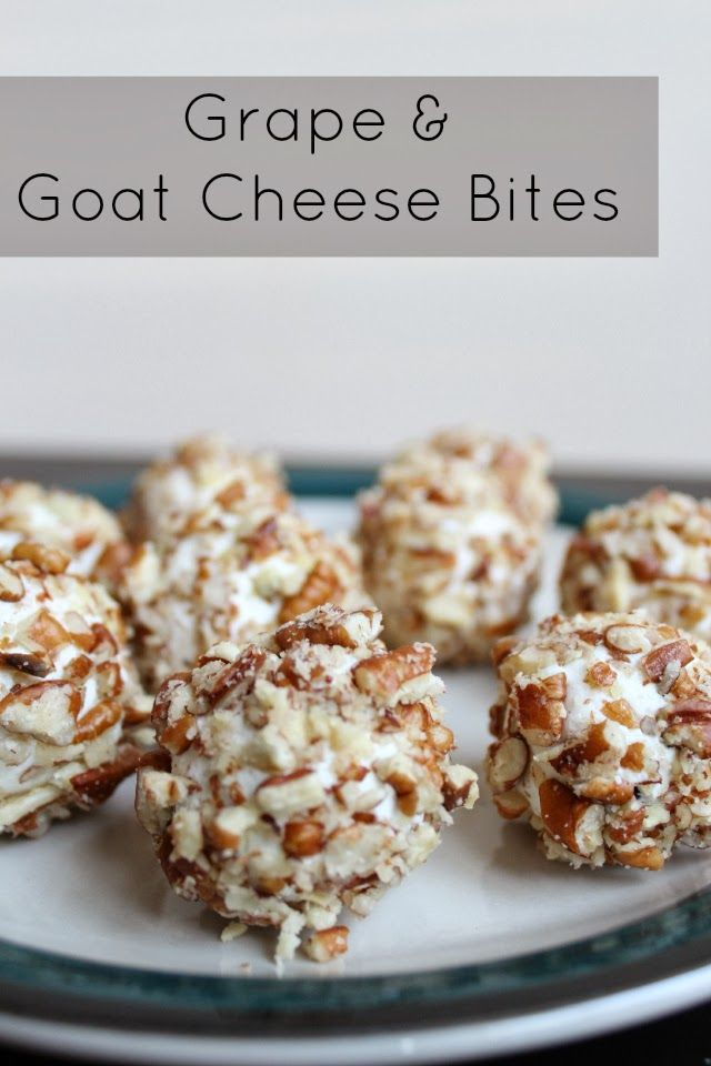 Stilettos and Diapers: Grape & Goat Cheese Bites {Recipe}