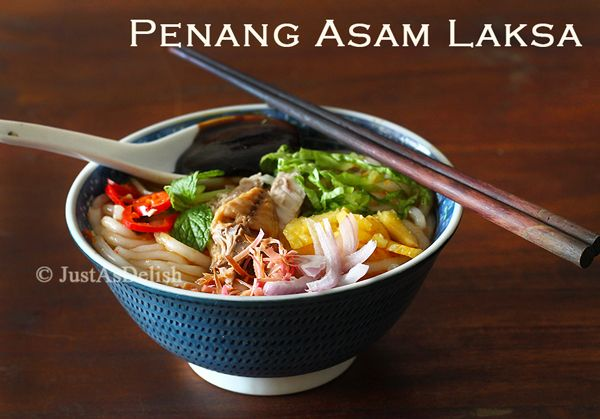 Penang Asam Laksa. Spicy sour fish broth noodles. Voted 7th out of 50 ...