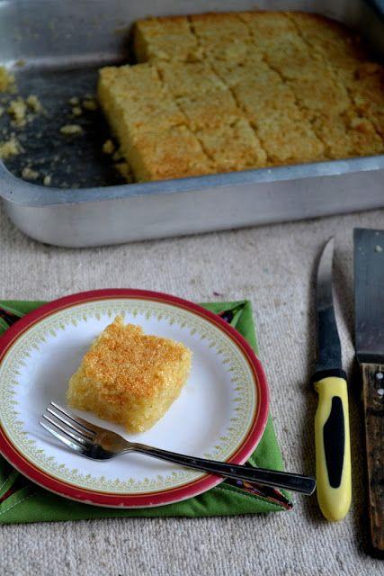 Gayathri's Cook Spot: Eggless Honey Drizzled Semolina Cake